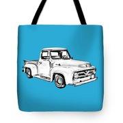 1955 F100 Ford Pickup Truck Illustration Tote Bag
