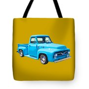 1955 Ford F100 Blue Pickup Truck Canvas Tote Bag