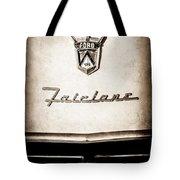 1955 Ford Fairlane Crown Victoria Emblem -1713s Tote Bag