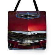 1955 Kaiser Hood Ornament And Grille Tote Bag