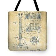 1955 Mccarty Gibson Les Paul Guitar Patent Artwork Vintage Tote Bag