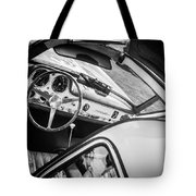1955 Mercedes-benz 300sl Gullwing Steering Wheel - Race Car -0329bw Tote Bag