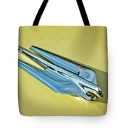 1956 Cadillac Sedan Deville Hood Ornament 2 Tote Bag by Jill Reger