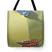 1956 Cadillac Sedan Deville Hood Ornament Tote Bag