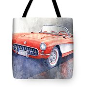 1956 Chevrolet Corvette C1 Tote Bag