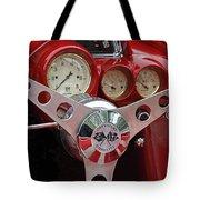1956 Corvette Dashboard Tote Bag