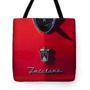 1956 Ford Fairlane Hood Ornament 2 Tote Bag
