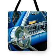 1956 Ford Thunderbird Steering Wheel And Emblem Tote Bag