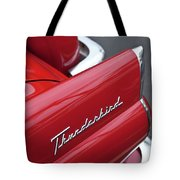 1956 Ford Thunderbird Taillight Emblem 2 Tote Bag