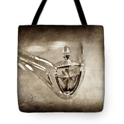 1956 Lincoln Premier Convertible Hood Ornament -0832s Tote Bag by Jill Reger