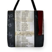1956 One Room School House Recitation Program Tote Bag