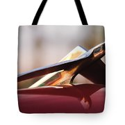 1956 Plymouth Belvedere Hood Ornament Tote Bag