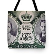 1956 Princess Grace Of Monaco Stamp II Tote Bag