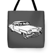 1956 Sedan Deville Cadillac Car Illustration Tote Bag