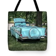 1957 Bel Air  Blue Convertible  Tote Bag