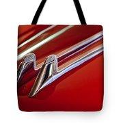 1957 Cadillac Eldorado Biarritz Hood Ornament Tote Bag
