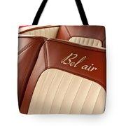 1957 Chevrolet Bel Air Seats Tote Bag