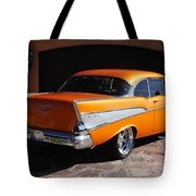 1957 Chevrolet Belair Coupe Tote Bag