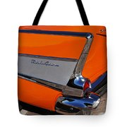 1957 Chevrolet Belair Coupe Tail Fin Tote Bag