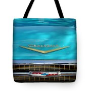 1957 Chevrolet Belair Grille 2 Tote Bag