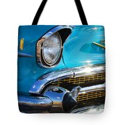 1957 Chevrolet Belair Grille Tote Bag