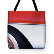 1957 Chevrolet Corvette Convertible Front End Tote Bag