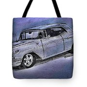 1957 Chevy Bel Air Sport Coupe Silver Fox Acrylic Print