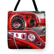 1957 Chevy Bel Air Stering Wheel  Tote Bag