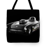 1957 Corvette Drag Car Tote Bag