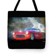 1957 Corvette Hot Rod Tote Bag