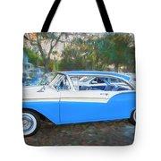 1957 Ford 2 Door Fairlane C130 Tote Bag