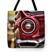 1957 Ford Thunderbird Red Convertible Tote Bag