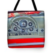 1957 Ford Thunderbird Steering Wheel Tote Bag