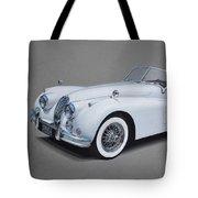 1957 Jaguar Xk140 Tote Bag