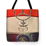 1957 Mercedes-benz 220 S Hood Ornament Tote Bag
