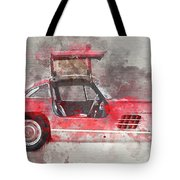 1957 Mercedes Gullwing Tote Bag