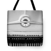 1957 Pontiac Safari Emblem -0737bw Tote Bag