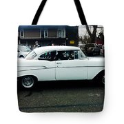 1957 White Chevy Tote Bag