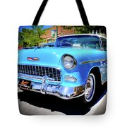 1955 Chevy Baby Blue Tote Bag