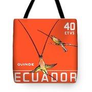 1958 Ecuador Hummingbirds Postage Stamp Tote Bag