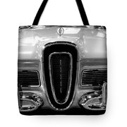 1958 Edsel Pacer Black And White Tote Bag