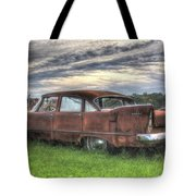 1958 Plymouth Savoy Tote Bag