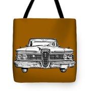 1959 Edsel Ford Ranger Illustration Tote Bag