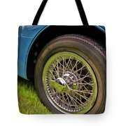 1959 Jaguar X K 150s Wire Wheel Tote Bag