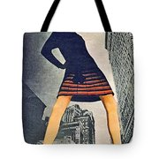1960 70 Fashion Shot Of Female Model In Usa Tote Bag