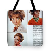 1960 70 Stylish Female Hair Styles Brown Mature Lady Tote Bag