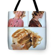1960 70 Stylish Female Hair Styles Golden Blond Tote Bag