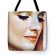 1960 70 Stylish Lady In Red Tote Bag