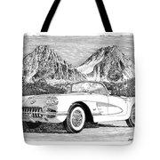 1960 Corvette Tote Bag