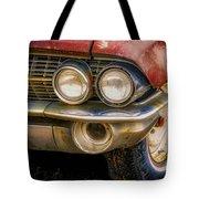 1961 Cadillac Headlight Tote Bag